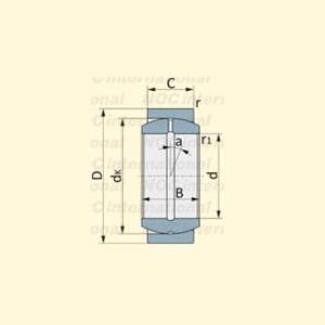 Схема подшипника 2ШС-12