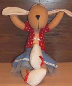 Мягкая игрушка Овечка Бекки, ручная работа