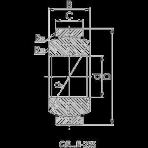 Схема подшипника GE-12E-2RS (ШС-12-2RS)