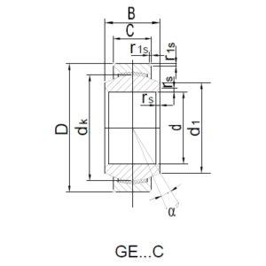 Схема подшипника GE20C