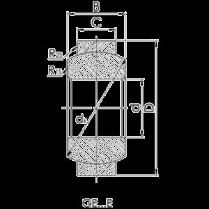 Схема подшипника GE (E)