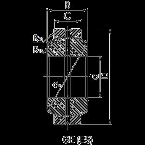 Схема подшипника GE (ES)