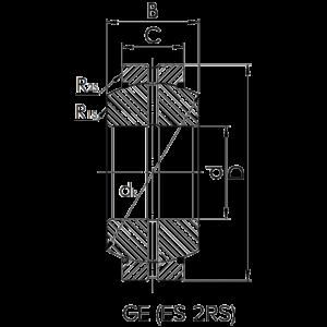 Схема подшипника GE (ES-2RS)