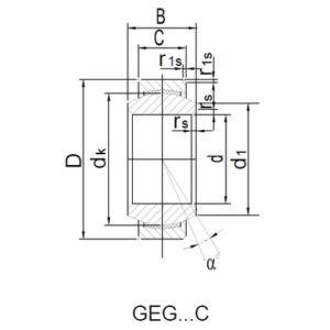 Схема подшипника GEG20C