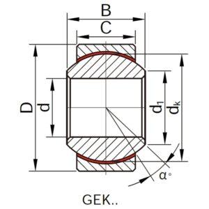 Схема підшипника GEK