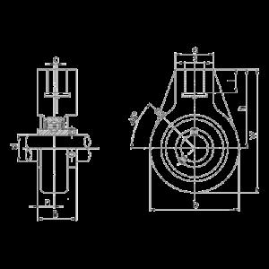 Схема корпусного подшипника UCHA