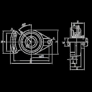 Схема корпусного подшипника UCFA Craft